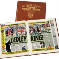 Personalised Cardiff City Football Newspaper Book - Leatherette Cover