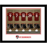 Personalised AFC Bournemouth Dressing Room Shirts Framed Print