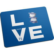 Personalised Birmingham City Love Mouse Mat