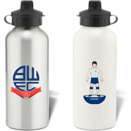 Personalised Bolton Wanderers Player Figure Aluminium Sports Water Bottle