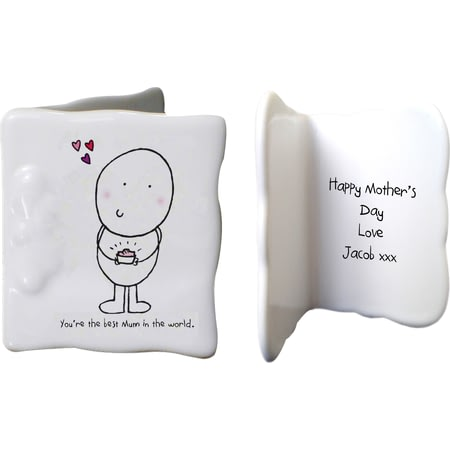 Personalised Chilli & Bubbles Mothers Day Ceramic Message Card