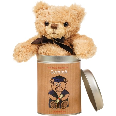 Personalised Graduation - Teddy In A Tin