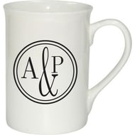 Personalised Monogram Circle Ceramic Mug