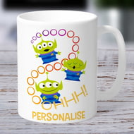 Personalised Toy Story 4 Aliens Ooohh Ceramic Mug