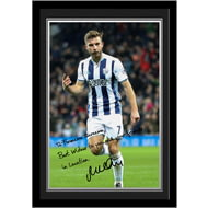 Personalised West Bromwich Albion FC Morrison Autograph Photo Framed