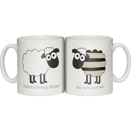 Personalised Baa Humbug Personalised Ceramic Mug Christmas