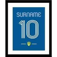 Personalised Leeds United FC Retro Shirt Framed Print