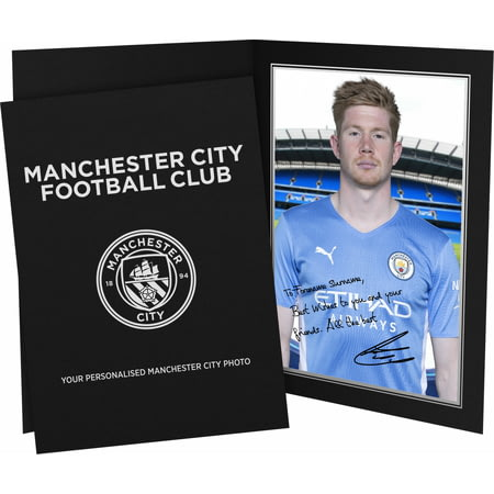 Personalised Manchester City FC De Bruyne Autograph Photo Folder