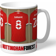Personalised Nottingham Forest FC Dressing Room Shirts Mug