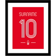 Personalised Nottingham Forest FC Retro Shirt Framed Print