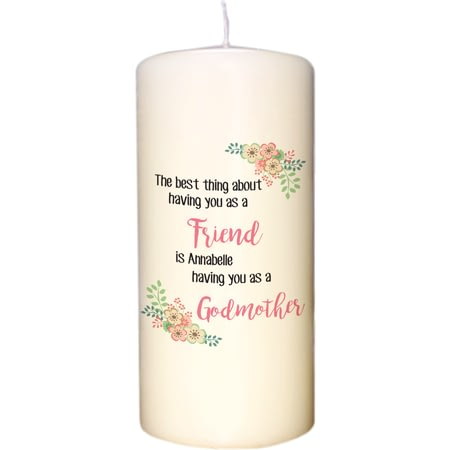 Personalised The Best Thing Pillar Candle
