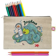 Personalised Underwater Adventure Octopus Pencil Case And Pencils