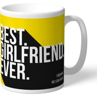 Personalised Watford Best Girlfriend Ever Mug
