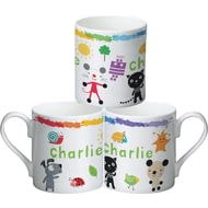 Personalised Arty Mouse Scatter Character Ceramic Mug