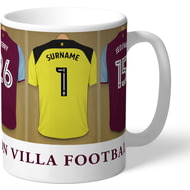 Personalised Aston Villa FC Goalkeeper Dressing Room Shirts Mug
