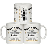 Personalised Birthday Celebration Ceramic Mug