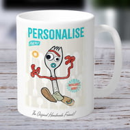 Personalised Toy Story 4 Forky Vintage Ceramic Mug