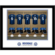 Personalised Rochdale AFC Dressing Room Shirts Framed Print