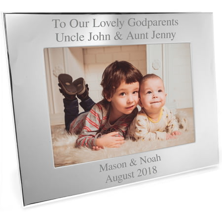 Personalised Silver Landscape Photo Frame - Any Message