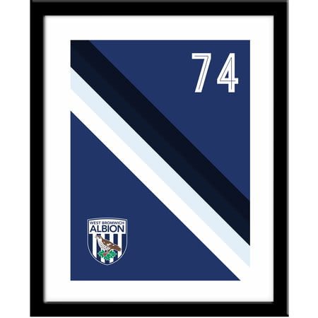 Personalised West Bromwich Albion Stripe Framed Print