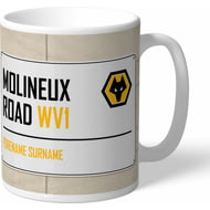 Personalised Wolves Street Sign Mug