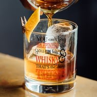 Personalised Can't Buy Happiness... Whisky Glass Tumbler