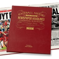 Personalised Liverpool FC In Europe Football Newspaper Book - Leather Cover