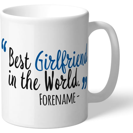 Personalised Cardiff City Best Girlfriend In The World Mug