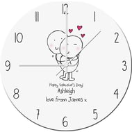 Personalised Chilli And Bubbles Valentine's Day Clock