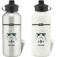 Personalised Star Wars Storm Trooper Paint Aluminium Sports Water Bottle