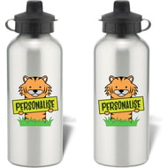 Personalised Kids Tiger Aluminium Water Bottle