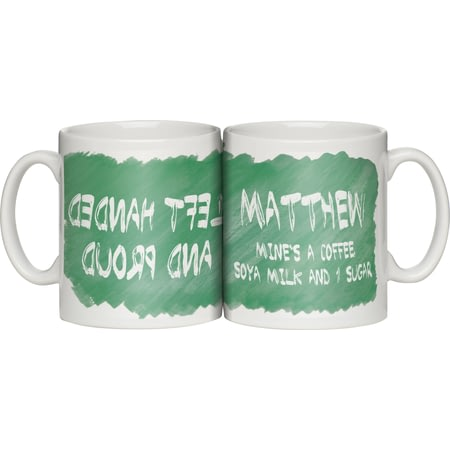 Personalised Left Handed And Proud Ceramic Mug