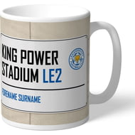 Personalised Leicester City FC King Power Stadium Street Sign Mug