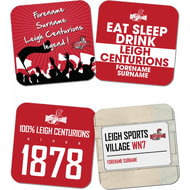 Personalised Leigh Centurions Coasters
