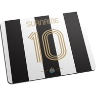 Personalised Newcastle United FC Retro Shirt Mouse Mat