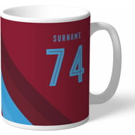 Personalised West Ham United Stripe Mug