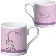 Personalised Baby Girl Elephant Ceramic Mug