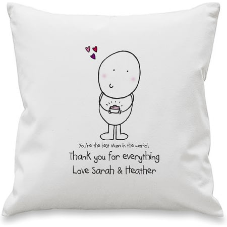Personalised Chilli And Bubbles Mother's Day Cushion Cover