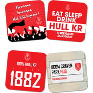 Personalised Hull Kingston Rovers Coasters