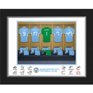 Personalised Manchester City FC Goalkeeper Dressing Room Shirts Photo Folder