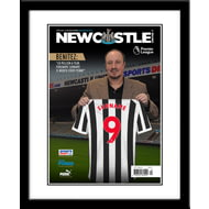 Personalised Newcastle United FC Magazine Front Cover Framed Print