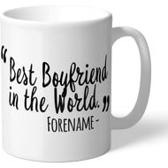 Personalised Swansea City Best Boyfriend In The World Mug