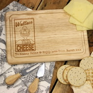 Personalised Wallace & Gromit 'Wallace Cheese' Rectangle Cheese Board