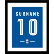 Personalised Birmingham City Retro Shirt Framed Print