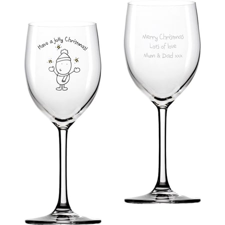 Personalised Chilli & Bubble's Jolly Christmas Wine Glass