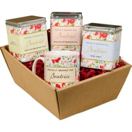 Personalised Floral Design Tea Hamper