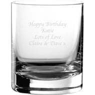 Personalised Engraved Glass Tumbler