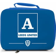 Personalised Leeds United FC Monogram Insulated Lunch Bag - Blue