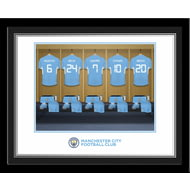 Personalised Manchester City FC Women's Team Dressing Room Photo Framed