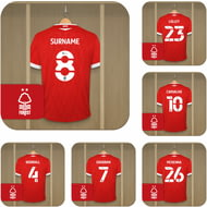 Personalised Nottingham Forest FC Dressing Room Shirts Coasters Set of 6